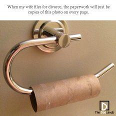 Toilet paper divorce
