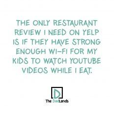 Dads in restaurants