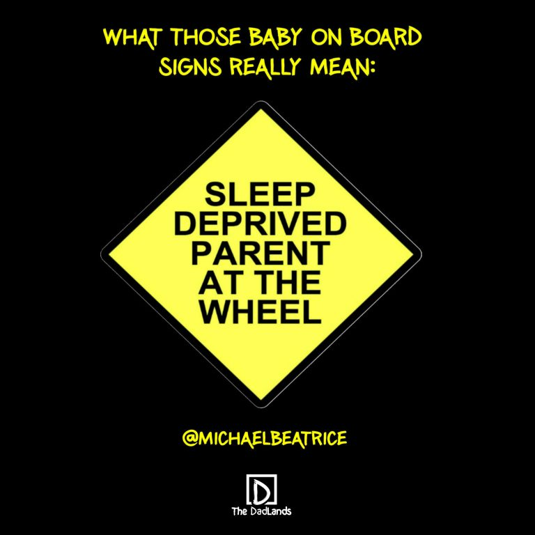 Sleep deprived parent at the wheel
