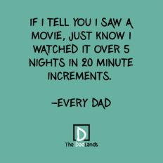 Watching movie in 20 minute increments