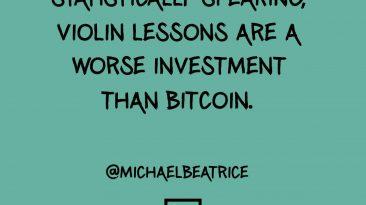 Violin lessons bitcoin