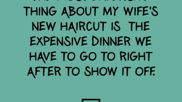 Wife's New Haircut