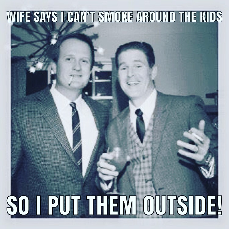 Smoking around the kids