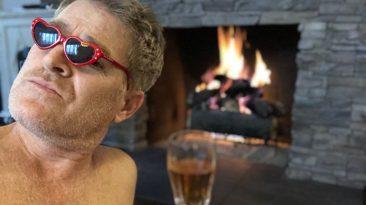 Fireside champagne